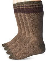 Dickies Men's 4 Pack Striped Cotton Thermal Boot Crew Socks
