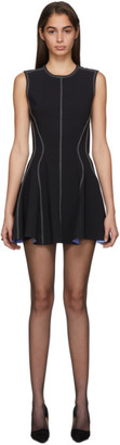 Thierry Mugler Black Scuba Flare Dress