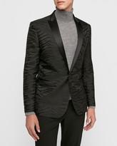 Express Slim Black Jacquard Zebra Tuxedo Jacket