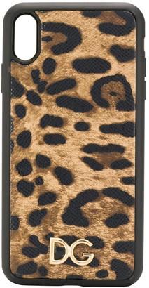 Dolce & Gabbana leopard-print iPhone XS Max phone case