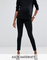 Asos Rivington Jegging in Washed Black Cord with Under the Bump Waistband
