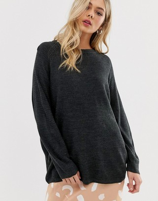 JDY Mathison loose knit sweater-Gray