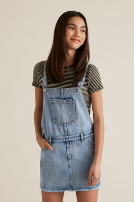 Seed Heritage Distressed Denim Pinafore