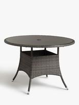 John Lewis & Partners Alora 4-Seater Garden Dining Table, Brown