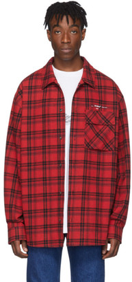 Off-White Off White Red Flannel Check Shirt