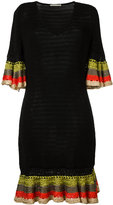 Marco De Vincenzo knitted V-neck dress - women - Cotton/Viscose - 42