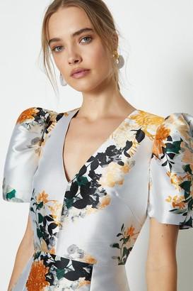 Coast Puff Sleeve Jacquard Dress