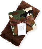 Swankie Blankie Camouflage Burp Cloth Set, Brown