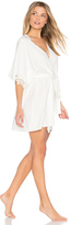 Flora Nikrooz Leslie Matt Charmeuse Lace Cover Up
