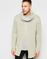 Asos Sweater with Cowl Neck and Wrap Front