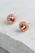 LuLu*s Realized Potential Rose Gold Rhinestone Earrings