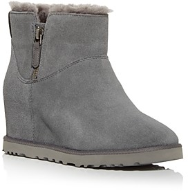 UGG Women's Classic Femme Shearling Hidden Wedge Booties