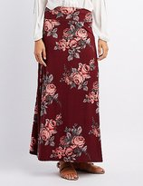 Charlotte Russe Floral Foldover Maxi Skirt