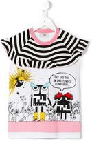 Fendi Monster Robot T-shirt - kids - Cotton/Spandex/Elastane - 4 yrs