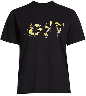 Off-White Flower Casual Logo T-Shirt