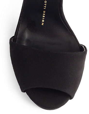 Giuseppe Zanotti Swarovski Crystal & Suede Sandals