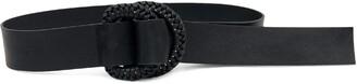 B-Low the Belt Emille Braided Buckle D-Ring Belt