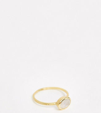 Liars The Label Liars & Lovers circle ring in gold plated with moonstone