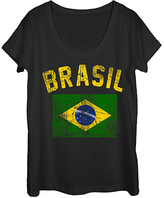 Fifth Sun Black 'Brasil' Scoop Neck Tee - Women