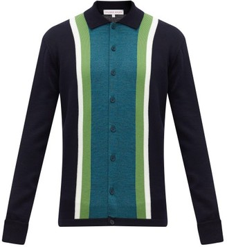 Orlebar Brown Sinclair X Striped Wool Cardigan - Navy Multi