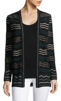 M Missoni Mini Wavy Knit Cardigan
