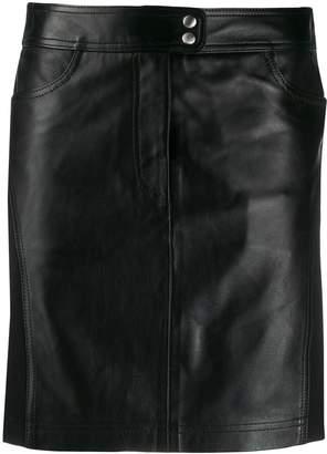 Alberta Ferretti panelled high-waisted skirt