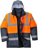 Portwest Hi Vis Contrast Traffic Jacket Visibility Work Raincoat, ANSI 3:2 (L)