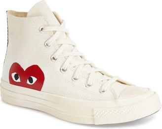 Comme des Garcons PLAY x Converse Chuck Taylor(R) Hidden Heart High Top Sneaker