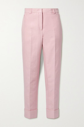 Akris Maxima Cropped Cotton-blend Twill Tapered Pants - Baby pink