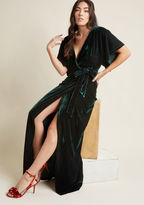 Collectif Silver Screening Velvet Maxi Dress in L