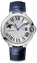 Cartier Ballon Bleu de Moon Phase Stainless Steel & Blue Alligator-Strap Watch