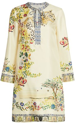Etro Safari Print Keyhole Shift Dress