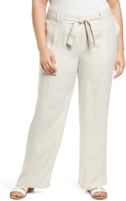 Caslon New Belted Yarn Dyed Linen Pants