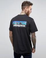 Patagonia P-6 Back Logo T-shirt Regular Fit In Black