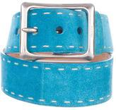 Prada Suede Stitched Belt
