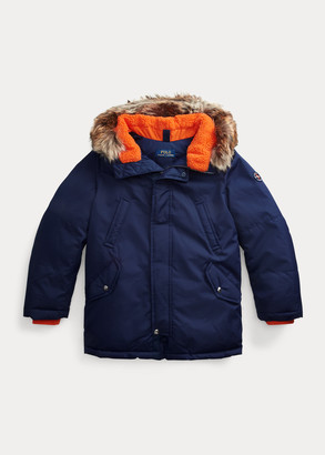 Ralph Lauren Faux-Fur-Trim Down Parka