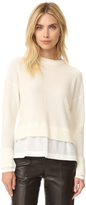 Joseph Round Neck Ruffled Sweater