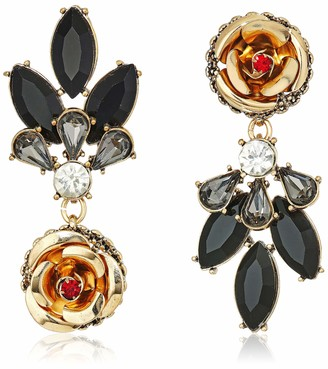 Betsey Johnson Women's Rose Mismatch Drop Earrings