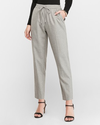 Express High Waisted Utility Flannel Jogger Pant