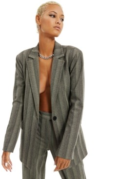 Danielle Bernstein Herringbone Striped Blazer, Created for Macy's