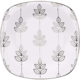 Lenox Lifestyle Dinnerware, Platinum Leaf Square Salad Plate