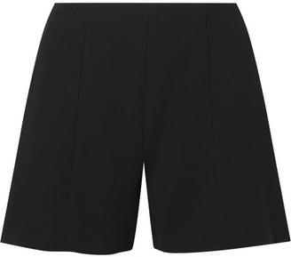 Alice Olivia - Keira Pleated Crepe De Chine Shorts - Black