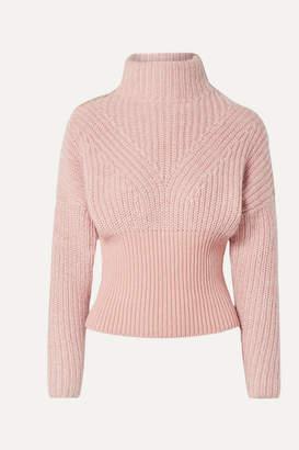 IRO Medford Ribbed Cotton-blend Turtleneck Sweater - Blush
