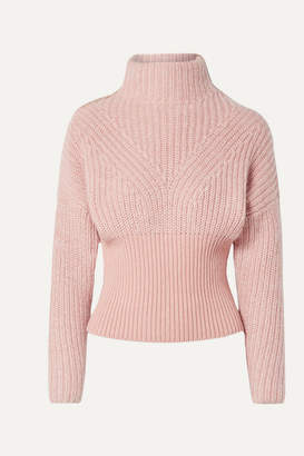 IRO Medford Ribbed Cotton-blend Turtleneck Sweater