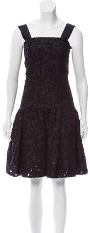 Oscar de la Renta Fil Coupé Knee-Length Dress