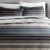 CB2 Lloyd Blue King Duvet Cover