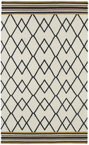 Tribeca Flatweave Ziggy Black Wool Rug (8' x 10')