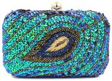 Chirrupy Chief Sequins Peacock Feathers Pattern Clutch Purse Crystal Evening Clutch Bags