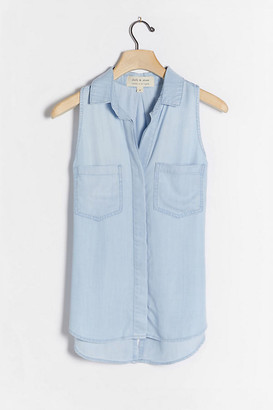 Cloth & Stone Chambray Buttondown By in Blue Size XS