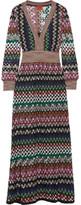 Missoni Metallic Crochet-knit Maxi Dress - IT42